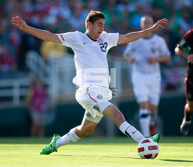 PASADENA, CA – June 25, 2011: USA player Alejandro Bedoya (22) during the Gold Cup Final match between USA and Mexico at the Rose Bowl in Pasadena, California. Final score USA 2 and Mexico 4.
