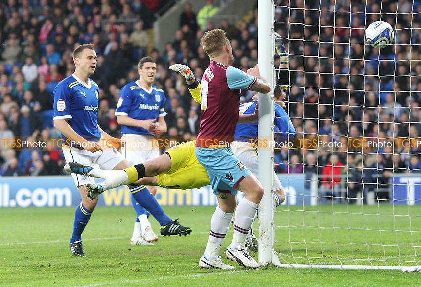 Jack Collison scores the 1st goal for West Ham - Cardiff City vs West Ham United, npower Championship Play-off Semi-Final 1st Leg at The Cardiff City Stadium, Cardiff - 03/05/12 - MANDATORY CREDIT: Rob Newell/TGSPHOTO - Self billing applies where appropriate - 0845 094 6026 - contact@tgsphoto.co.uk - NO UNPAID USE.