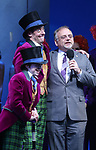 Jake Ryan Flynn, Christian Borle and Marc Shaiman during the Broadway Opening Performance Curtain Call of 'Charlie and the Chocolate Factory' at the Lunt-Fontanne Theatre on April 23, 2017 in New York City.