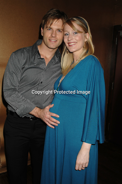 Trevor St John and wife Sara, who is pregnant and due in March..at The One Life to Live Christmas Party on December 11, 2006 at Venue in New York, ..Robin Platzer, Twin Images