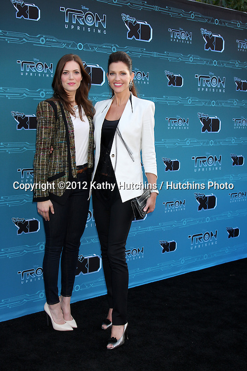 "LOS ANGELES - MAY 12:  Mandy Moore, Tricia Helfer arrives at the Disney XD's ""TRON: Uprising"" Press Event and Reception at DisneyToon Studios/Disney Television Animation on May 12, 2012 in Glendale, CA"