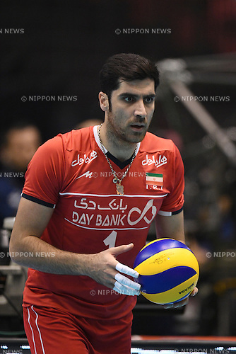 Shahram Mahmoudi (IRI),<br /> JUNE 2, 2016 - Volleyball :<br /> Men's Volleyball World Final Qualification for the Rio de Janeiro Olympics 2016<br /> match between Iran 3-2 China<br /> at Tokyo Metropolitan Gymnasium, Tokyo, Japan.<br /> (Photo by AFLO SPORT)