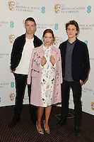 Will Poulter, Lea Seydoux and George MacKay is announced as a nominee for the EE Rising Star Award 2014 at BAFTA, London. 06/01/2014 Picture by: Steve Vas / Featureflash