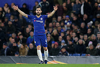 Cesc Fabregas of Chelsea demands the ball in midfield during Chelsea vs PAOK Salonika, UEFA Europa League Football at Stamford Bridge on 29th November 2018