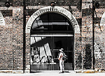 Old railway workshops and building at the Eveleigh Rail Yards, now part of the heritage listed Carriageworks in Eveleign, Sydney, NSW, Australia