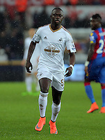 Modou Barrow of Swansea during the Barclays Premier League match between Swansea City and Crystal Palace at the Liberty Stadium, Swansea on February 06 2016