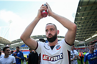 Bolton Wanderers' match winning goalscorer Aaron Wilbraham<br /> <br /> Photographer Andrew Kearns/CameraSport<br /> <br /> The EFL Sky Bet Championship - Bolton Wanderers v Nottingham Forest - Sunday 6th May 2018 - Macron Stadium - Bolton<br /> <br /> World Copyright &copy; 2018 CameraSport. All rights reserved. 43 Linden Ave. Countesthorpe. Leicester. England. LE8 5PG - Tel: +44 (0) 116 277 4147 - admin@camerasport.com - www.camerasport.com