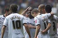 Pictured: Jason Scotland of Swansea City <br /> <br /> Re: Coca Cola Championship, Swansea City Football Club v  Wolverhampton Wanderers at the Liberty Stadium, Swansea, south Wales 2008.