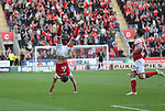 Rotherham United VS Scunthorpe United, New York Stadium Rotherham, Saturday 14th October 2017 <br /> <br /> Will Vaulks of Rotherham United Celebrates scoring his volley for Rotherham VS Scunthorpe  1-0 <br /> <br /> Picture - Alex Roebuck / www.alexroebuck.co.uk