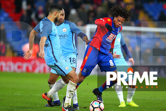Crystal Palace player Loic Remy during the FA Cup fourth round match between Crystal Palace and Manchester City at Selhurst Park, London, England on 28 January 2017. Photo by PRiME Media Images / Steve McCarthy.