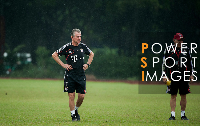 Head coach Jupp Heynckes and Hermann Gerland of Bayern Munich during a training session ahead the friendly match against VfL Wolfsburg as part of the Audi Football Summit 2012 on July 26, 2012 at the Tianhe Sports Stadium in Guangzhou, China. Photo by Victor Fraile / The Power of Sport Images