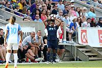 Cary, North Carolina  - Saturday April 29, 2017: Taylor Smith during a regular season National Women's Soccer League (NWSL) match between the North Carolina Courage and the Orlando Pride at Sahlen's Stadium at WakeMed Soccer Park.