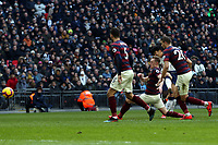 Son Heung-Min of Tottenham Hotspur scores the first goal during Tottenham Hotspur vs Newcastle United, Premier League Football at Wembley Stadium on 2nd February 2019
