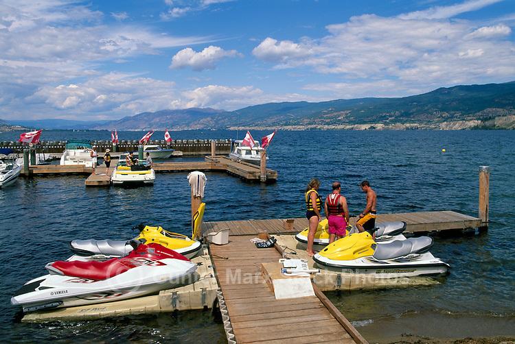 Penticton, BC, South Okanagan Valley, British Columbia, Canada - Seadoos at Marina on Okanagan Lake, Summer