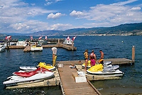 Penticton, BC, South Okanagan Valley, British Columbia, Canada - Seadoos at Marina on Okanagan Lake, Summer