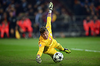 FUSSBALL  CHAMPIONS LEAGUE  ACHTELFINALE  Rueckspiel  2012/2013      FC Schalke 04 - Galatasaray Istanbul                   12.03.2013 Torwart Fernando Muslera (Galatasaray Istanbul)