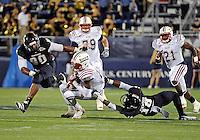 Florida International University football player d?fensive back Jeffrey Fulwood (18) plays against the Florida Atlantic University on November 12, 2011 at Miami, Florida. FIU won the game 41-7. .
