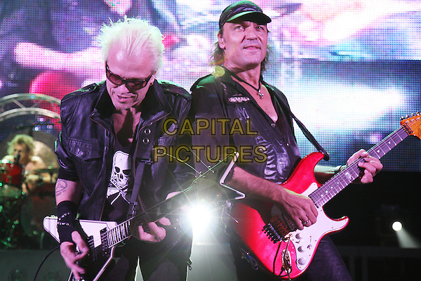 THE SCORPIONS.Live at the Hammersmith Apollo, London, England..October 18th, 2008.stage concert gig performance music half length guitar sunglasses shades black top hat.CAP/MAR.©Martin Harris/Capital Pictures.