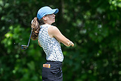 28th May 2017, Ann Arbor, MI, USA;  Madeleine Sheils watches her tee shot on the seventh hole during the final round of the LPGA Volvik Championship on May 28, 2017 at Travis Pointe Country Club in Ann Arbor, Michigan.
