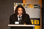 Chevannah Paalvast from Massey High School gives the closing address on behalf of all students at the ASB College Sport Auckland Secondary School Young Sports Person of the Year Awards held at Eden Park on Thursday 12th of September 2009.