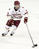 Austin Cangelosi (BC - 9) - The Boston College Eagles defeated the visiting Colorado College Tigers 4-1 on Friday, October 21, 2016, at Kelley Rink in Conte Forum in Chestnut Hill, Massachusetts.The Boston College Eagles defeated the visiting Colorado College Tiger 4-1 on Friday, October 21, 2016, at Kelley Rink in Conte Forum in Chestnut Hill, Massachusett.