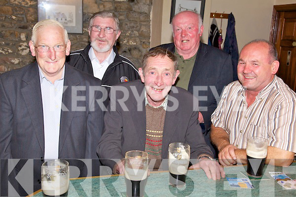 Night Out - Enjoying themselves at the Comhaltas Ceoltoiri Eireann night held in Purcell's Bar, Ballyduff on Saturday night were l/r Mikey White, Gerry Flanagan, Jim Kissane, Tom Kennedy and Brendan O'Brien.
