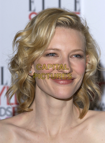 CATE BLANCHETT.Elle Style Awards 2005,.Spitalfields Market, London, .February 15th 2005..portrait headshot.Ref: PL.www.capitalpictures.com.sales@capitalpictures.com.©Capital Pictures.