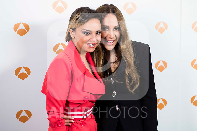 "Chenoa and Monica Naranjo during the presentation of the new TV program of Antena 3, ""Tu cara no me suena"" at  Teatro Gran Maestre in Madrid. March 08, 2017. (ALTERPHOTOS/Borja B.Hojas)"