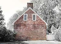 red brick house, wiliamsburg, virginia