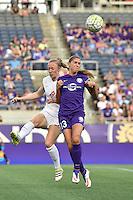 Orlando, FL - Saturday Sept. 24, 2016: Becky Sauerbrunn, Alex Morgan during a regular season National Women's Soccer League (NWSL) match between the Orlando Pride and FC Kansas City at Camping World Stadium.