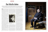German weekly magazine DER SPIEGEL on a case of lost identity after worldwar II. Riga, Latvia, 03.2012.<br />