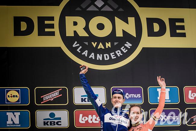 Ronde van Vlaanderen 2018 <br /> Women Elite winner Anna van der Breggen (NED/Boels Dotmans) and Elite Men race winner Niki Terpstra (NED/Quick Step Floors)