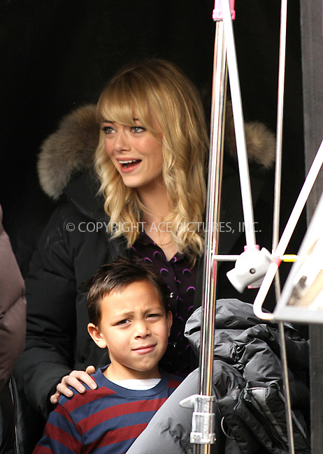 WWW.ACEPIXS.COM....March 11 2013, New York City....Emma Stone was on the set of the new movie 'The Amazing Spiderman 2' on March 11 2013 in New York City........By Line: Zelig Shaul/ACE Pictures......ACE Pictures, Inc...tel: 646 769 0430..Email: info@acepixs.com..www.acepixs.com