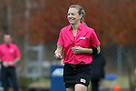 09 November 2014: Referee Amy Baxter. The Wake Forest University Demon Deacons played the Syracuse University Orange at Jack Katz Stadium in Durham, North Carolina in the 2014 Atlantic Coast Conference NCAA Division I Field Hockey Championship Game. Wake Forest won the ACC Championship game 2-0.