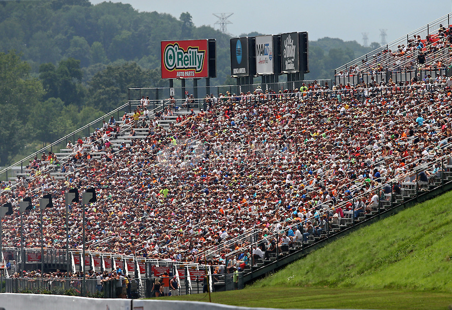 Jun 20, 2015; Bristol, TN, USA; NHRA fans in the grandstands during qualifying for the Thunder Valley Nationals at Bristol Dragway. Mandatory Credit: Mark J. Rebilas-