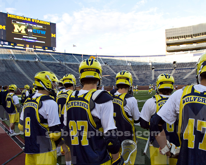 The University of Michigan men's lacrosse team beat Concordia (Wisc.) 16-3 in exhibition at Michigan Stadium in Ann Arbor, Mich., on October 2, 2011.