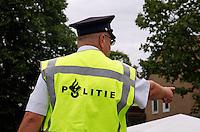 Politie aan het werk bij een evenement
