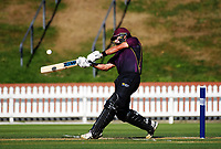 Dean Brownlie bats during from the Ford Trophy cricket match between the Wellington Firebirds and Northern Districts at Hawkins Finance Basin Reserve, Wellington, New Zealand on Saturday, 27 January 2018. Photo: Dave Lintott / lintottphoto.co.nz