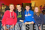 Pictured at the KDYS Youth Day Quiz on Sunday were l-r: Shay Healy Darragh O'Regan Edward Enright Michelle Buckley (St. Senans Youth Club).