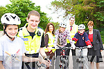 Pupils from Holy Cross NS Killarney who completed the KLSP safety cycling project in the school on Wednesday l-r: Garda Damian Jerwyn, Cora Carrigg KLSP Sports Co-ordinator, Mayor Niall O'Callaghan, Marian O'Shea, Shannon Ahern and Ursulla Coffey Principal   Copyright Kerry's Eye 2008