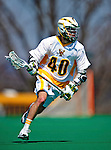 3 April 2010: University of Vermont Catamounts' Midfielder Cal Case, a Sophomore from Columbus, OH, in action against the Binghamton University Bearcats at Moulton Winder Field in Burlington, Vermont. The Catamounts defeated the visiting Bearcats 11-8 in Vermont's opening home game of the 2010 season. Mandatory Credit: Ed Wolfstein Photo