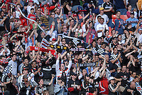 DC United supporters Barra Brava salutes the team after the victory. DC United defeated Chivas USA 2-1, at RFK Stadium in Washington DC, Sunday May 6, 2007.