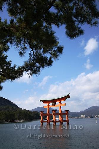 Jan. 24, 2009; Miyajima, Japan - Tori (gate)...Miyajima is one of Japan's three most beautiful sights to see.
