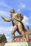 Thomas Paine statue sculpture, 1737-1809, Thetford, Norfolk,  England, UK