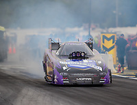 Aug 19, 2018; Brainerd, MN, USA; NHRA funny car driver Jack Beckman during the Lucas Oil Nationals at Brainerd International Raceway. Mandatory Credit: Mark J. Rebilas-USA TODAY Sports