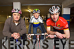 Pictured at the Cycling Ireland 'Sprocket Rocket' Coaches Training Day in the Manor West Hotel on Saturday are from left: Pat Leahy, Pat O'Connor and Dick McElligott.