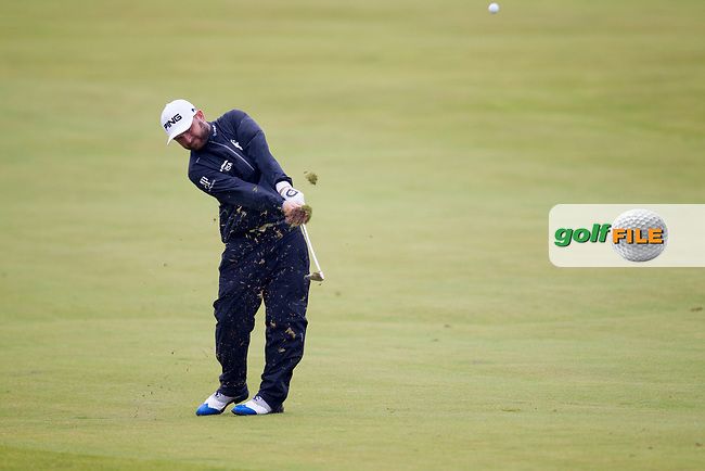 Andy Sullivan (ENG) on the 9th during round 3 of the Aberdeen Asset Management Scottish Open 2017, Dundonald Links, Troon, Ayrshire, Scotland. 15/07/2017.<br /> Picture Fran Caffrey / Golffile.ie<br /> <br /> All photo usage must carry mandatory copyright credit (&copy; Golffile | Fran Caffrey)