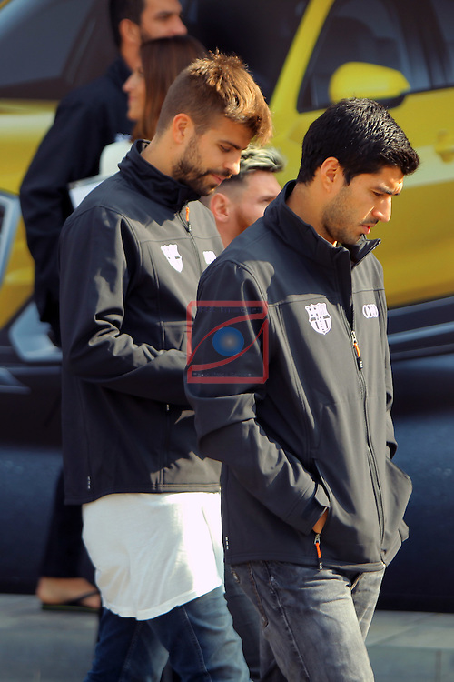 AUDI Premium Partner del FC Barcelona.<br /> Luis Suarez, Gerard Pique &amp; Lionel Messi.
