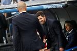 Real Madrid's coach Zinedine Zidane (l) and Atletico de Madrid's coach Diego Pablo Cholo Simeone during Champions League 2016/2017 Semi-finals 1st leg match. May 2,2017. (ALTERPHOTOS/Acero)