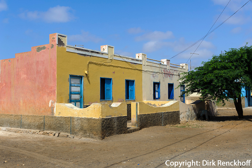 Häuser in Palmeira, Sal, Kapverden, Afrika